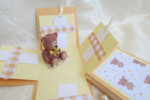 Ръчно изработена картичка-кутийка Мече